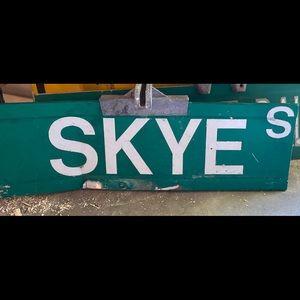 Skye metal road sign
